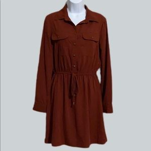 BeBop Collared Shirt Dress